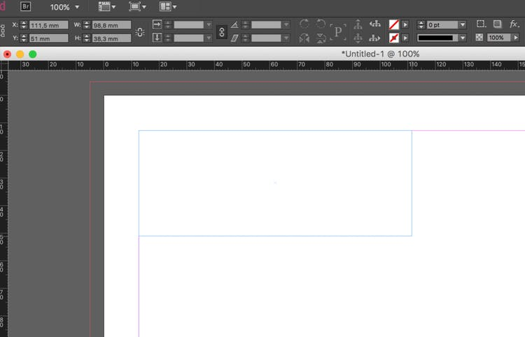 Import an Excel file into InDesign: create the text-frame