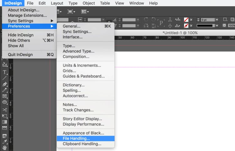 Import an Excel file into InDesign linking the spreadsheet: click on File Handling