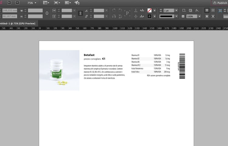 Prototype layout in InDesign