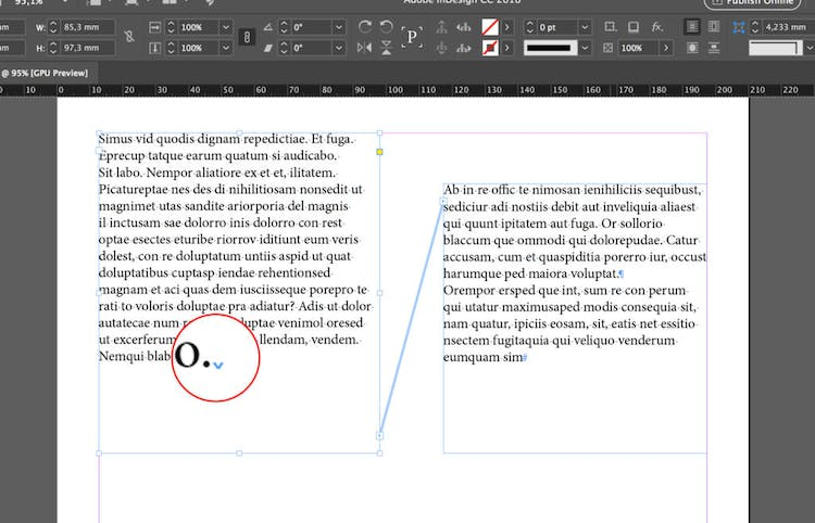Use of InDesign Column Breaks