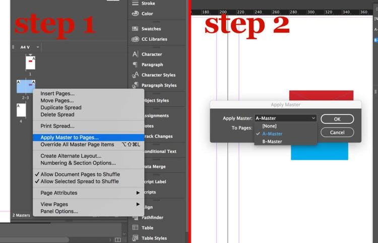 Select Apply Master to Pages…