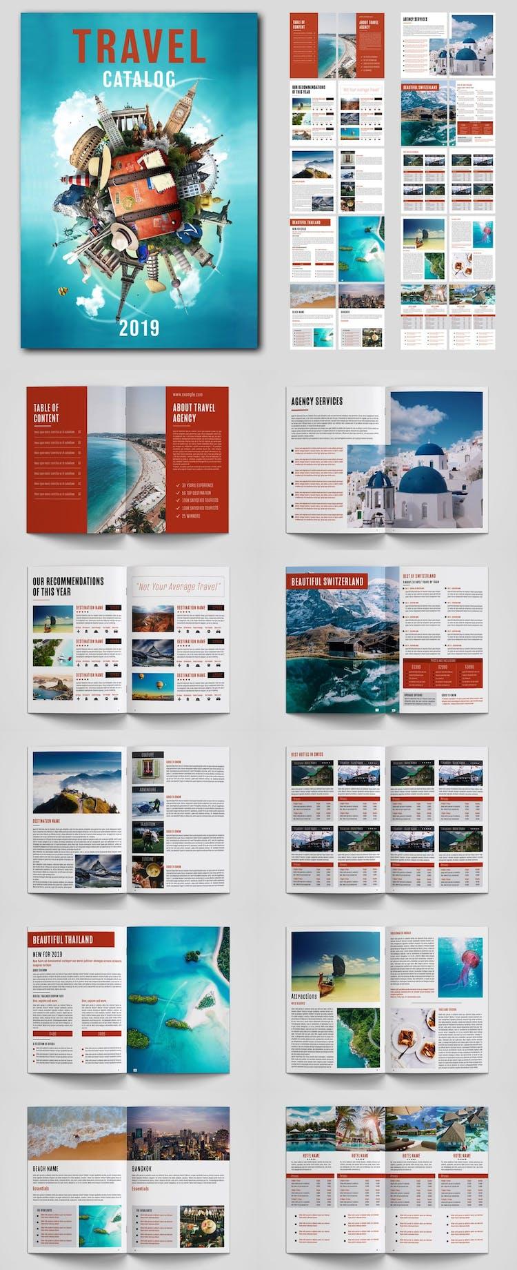 Plantilla de catálogo de viajes