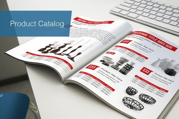 Plantilla de catálogo de productos