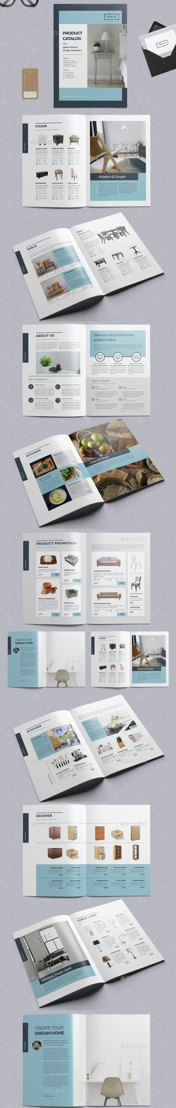 Plantillas de catálogo de productos de InDesign