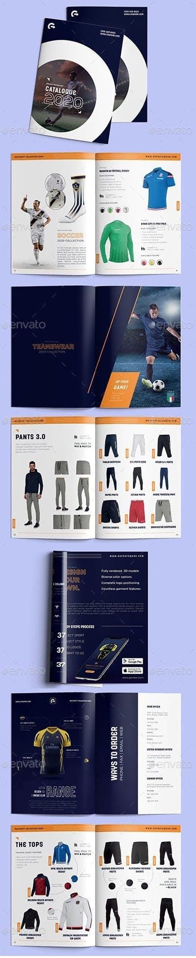 Plantilla de catálogo de ropa