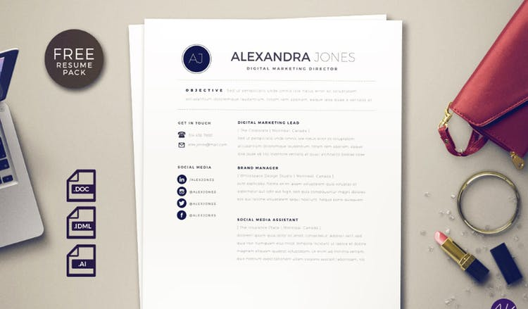 The effortless chick resume template