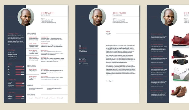 Colorblock Resume and Cover Letter Set