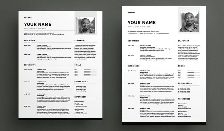 Modern Resume and Cover Letter Layout