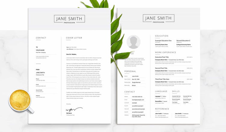 Black and White Resume with Grey Header Elements