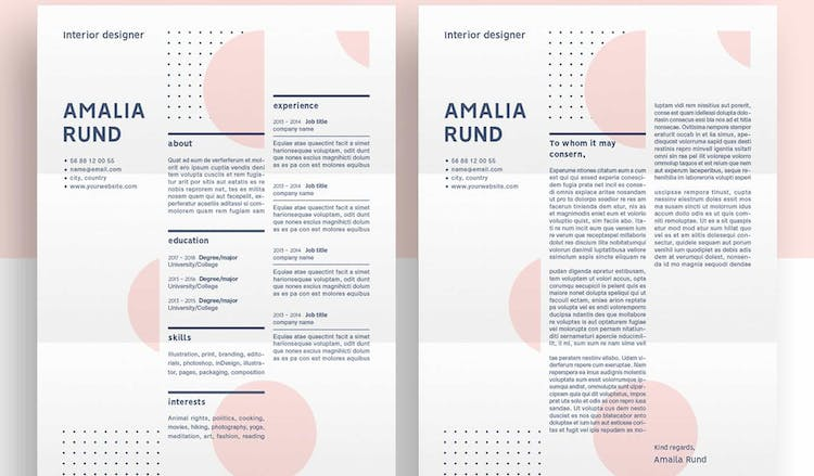 Creative Dots Resume Template