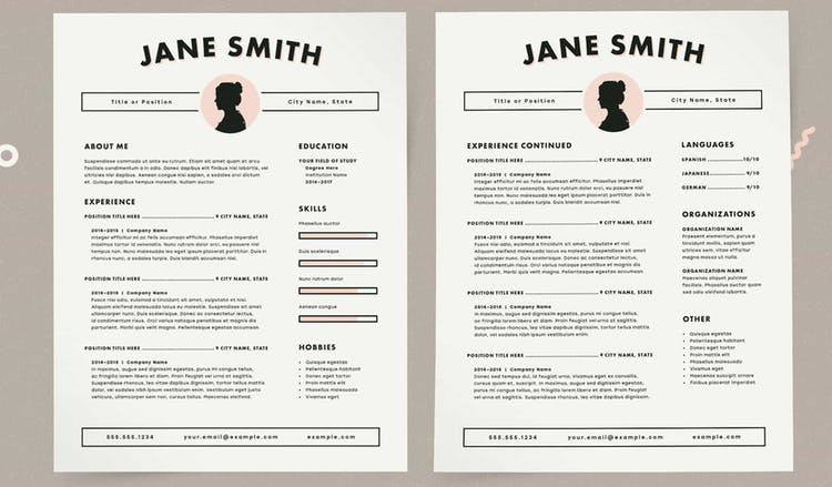 Cartoonish Resume