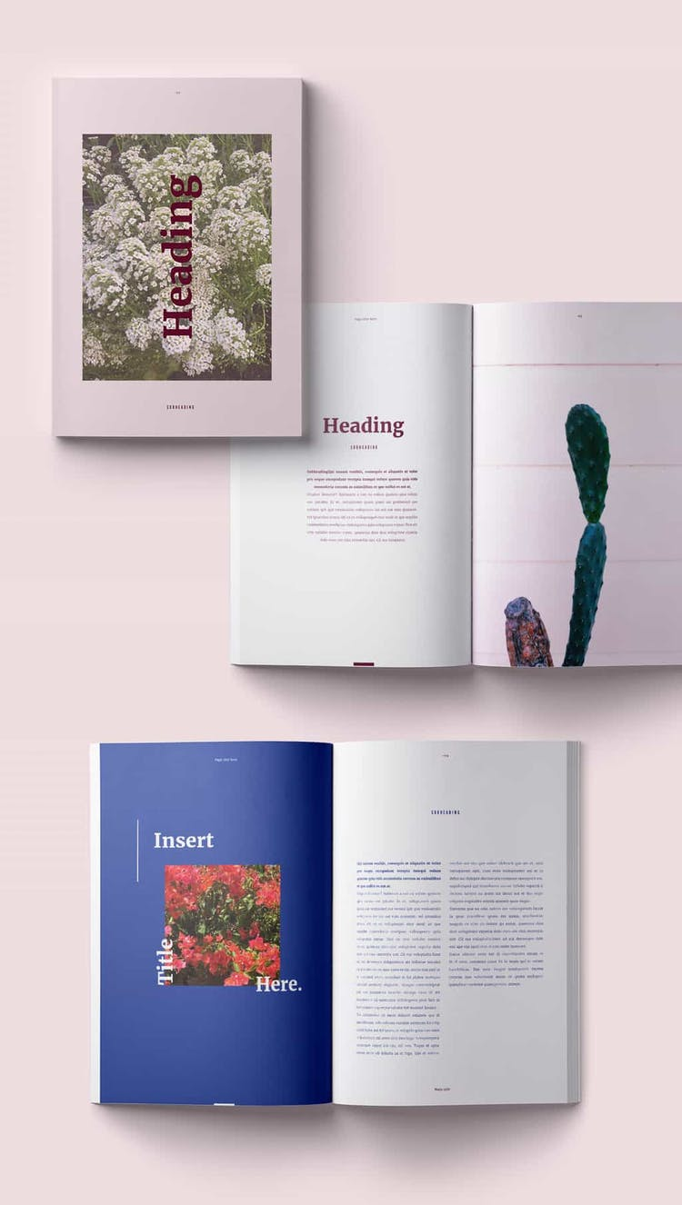 Free InDesign Magazine Template Preview