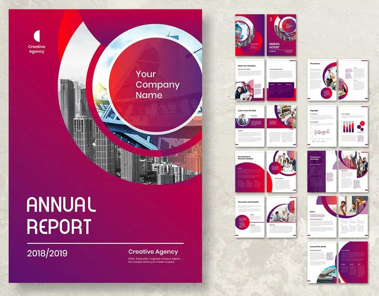 60 Modern Annual Report Design Templates Free And Paid Redokun